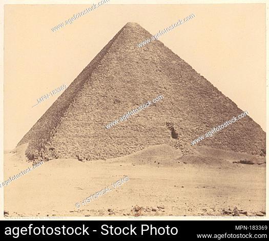 Djîzeh (Nécropole de Memphis), Pyramide de Chéops (Grande Pyramide). Artist: Félix Teynard (French, 1817-1892); Printer: Imprimerie Photographique de H