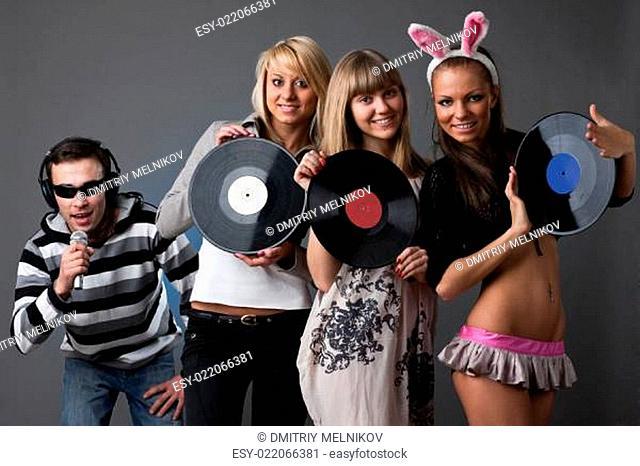 Male DJ and beautiful girls