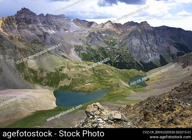 Scenic mountain view of landscape in San Juan mountains of Colorado