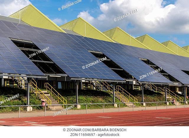 photovoltaic installation, stadium, Dortmund, Germany, Europe, Photovoltaikanlage, Stadion, Dortmund, Deutschland, Europa