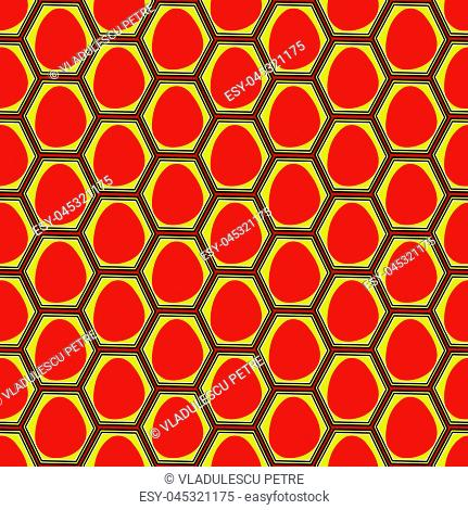 red eggs pressed in eggs boxes (seamless pattern)