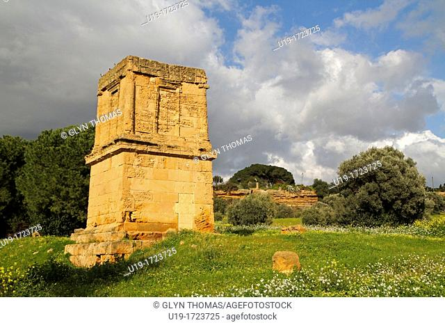 Tomb of Theron, Agrigento, Sicily, Italy