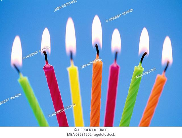 Candles, colorfully, burn, detail