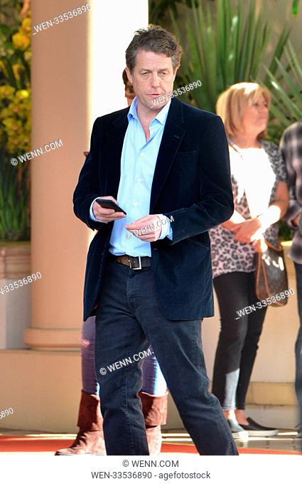 Hugh Grant leaves the AFI award luncheon at the Four Seasons Hotel in Beverly Hills Featuring: Hugh Grant Where: Los Angeles, California