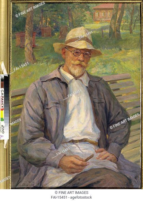 Portrait of the artist Ivan Goryshkin-Sorokopudov (1873-1954). Sychkov, Fedot Vasilyevich (1870-1958). Oil on canvas. Realism. State S
