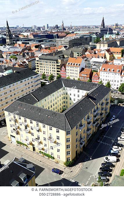 COPENHAGEN, DENMARK Views from Our Saviour's Church in Christianhavn