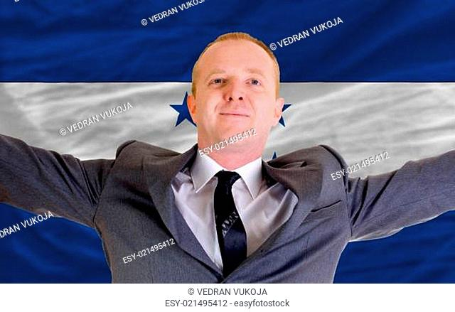 happy businessman because of profitable investment in honduras s