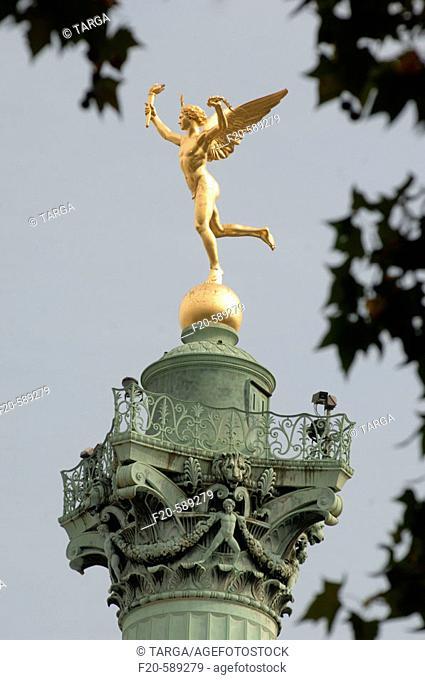 Le Génie de la Bastille. Place de la Bastille. Paris. France
