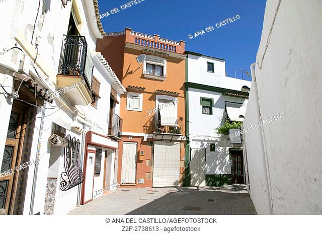 Denia the old fishing neighborhood on April 16, 2016 in Alicante province Spain