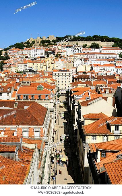 São Jorge castle and the historical center, Lisbon, Portugal