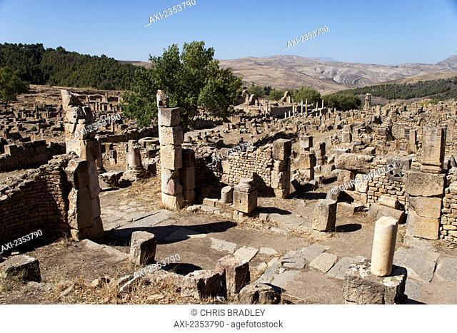 Roman ruins, Christian quarter; Djemila, Algeria