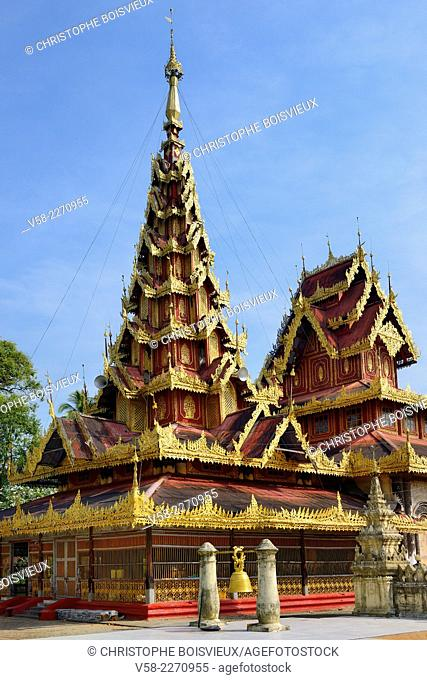 Myanmar, Mon State, Go Nut village, U Na Hawt pagoda
