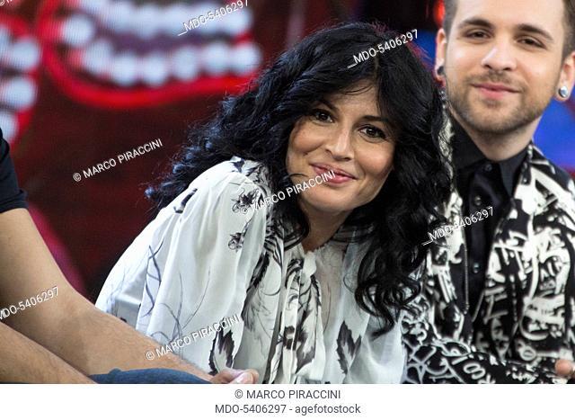 Italian singer Giusy Ferreri attends at the third night of Dopo Festival. Sanremo, February 9, 2017
