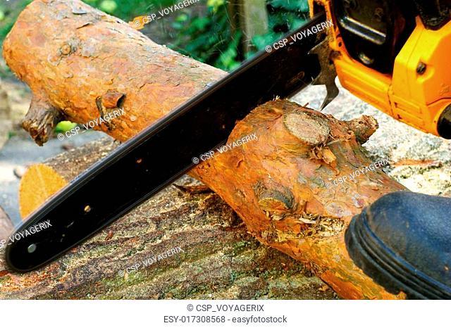Man cutting piece