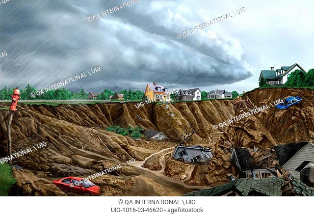 Areas with sloping terrain occasionally see the ground slip away. There are a number of natural causes for this type of movement, which is called a landslide