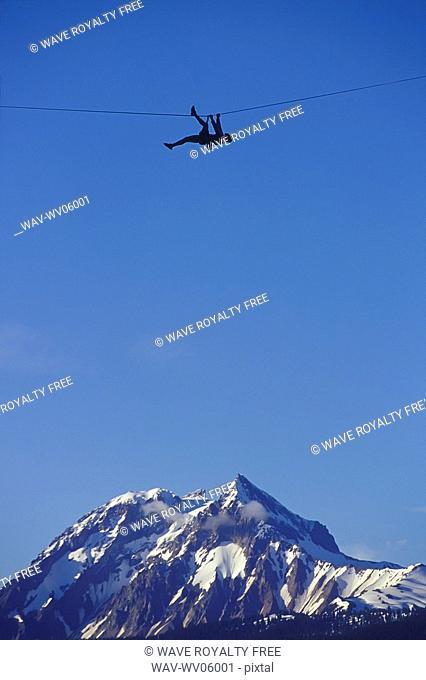Traversing Between Two Peaks, Squamish, BC, Canada