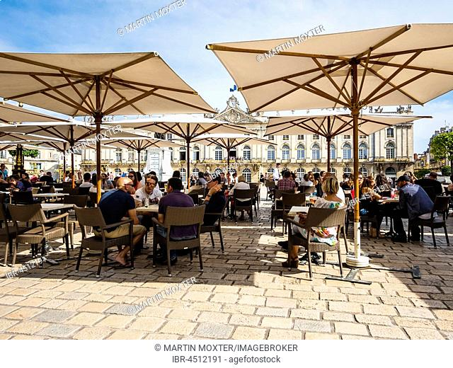 Restaurant on Place de Stanislas, Nancy, Meurthe-et-Moselle, Lorraine, France