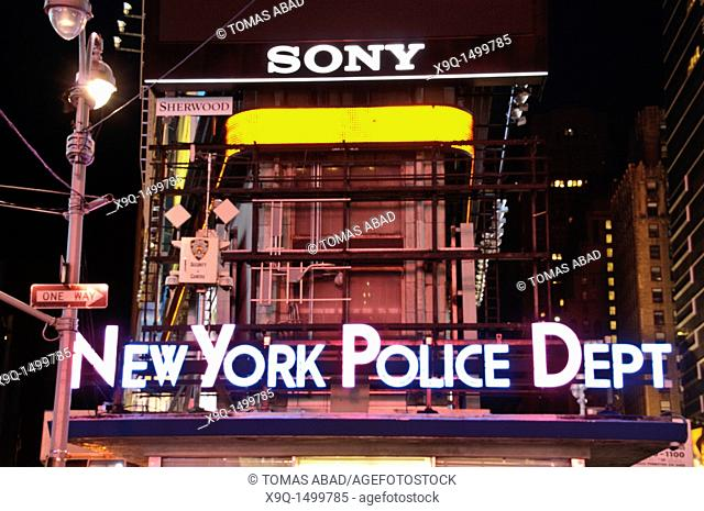 Times Square, 42nd Street, New York City, 2011, NYC Police Department headquarters