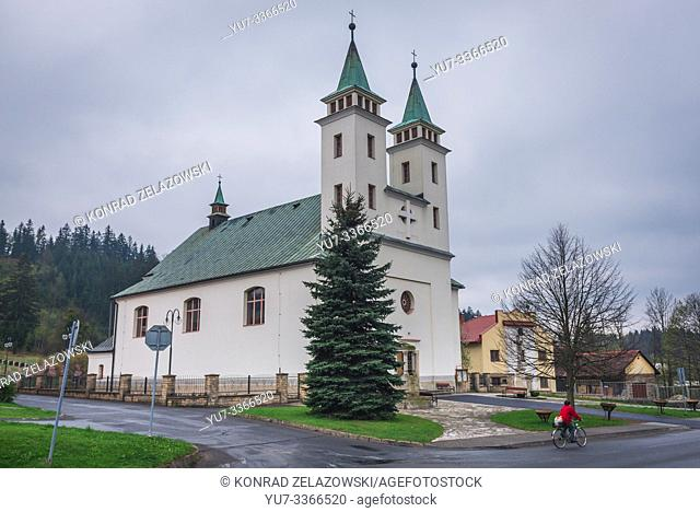 Church in Horni Becva in Zlin region of Czech Republic