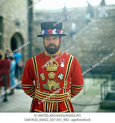 Eine Reise nach London, England 1980er Jahre. A trip to London, England 1980s
