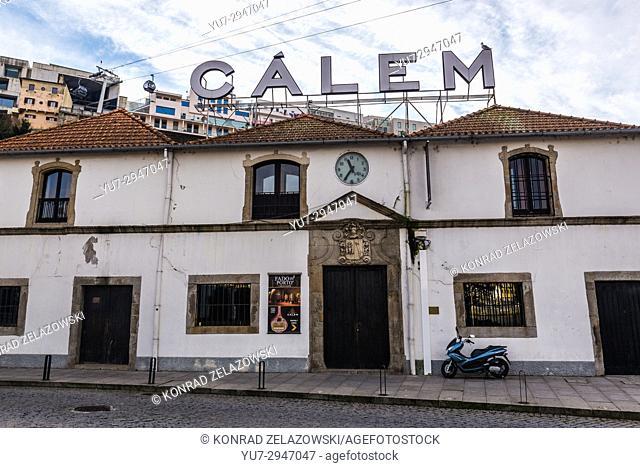 Calem Port wine cellars on Diogo Leite Avenue in Vila Nova de Gaia city of Portugal