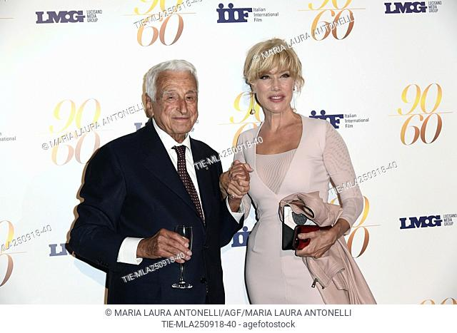 Nancy Brilli, Fulvio Lucisano during red carpet of 60/90 party, for 60 years of career and ninetieth birthday of Fulvio Lucisano, Italian Film Producer