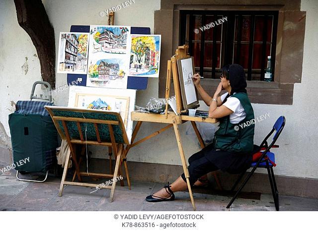 Sep 2008 - Painter at Petite France, Strasbourg, Alsace, France