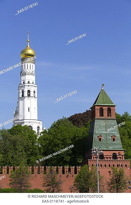 Ivan the Great Bell Tower, Kremlin, UNESCO World Heritage Site, Moscow, Russia