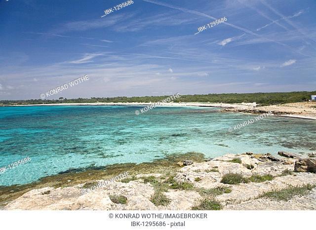 Beach Platja d'es Caragol, Mallorca, Majorca, Balearic Islands, Mediterranean Sea, Spain, Europe