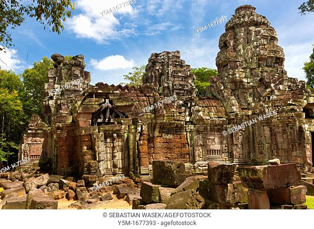Ta Som, A small temple at Angkor, Cambodia, built at the end of the 12th century for King Jayavarman VII, It is located north east of Angkor Thom and just east...