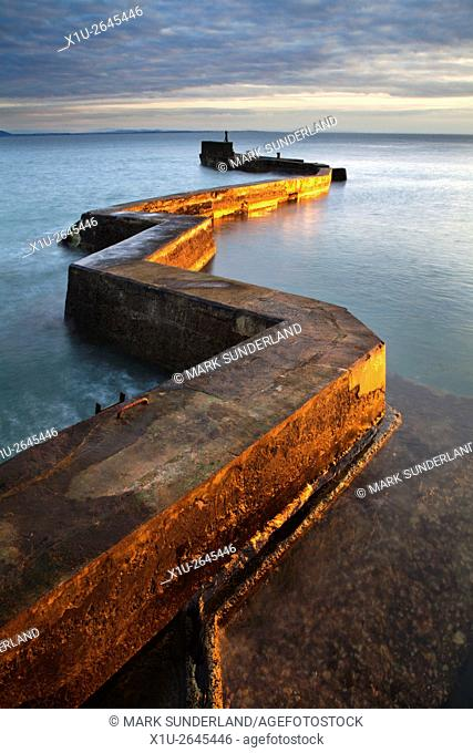 Zig Zag Breakwater at Sunset St Monans East Neuk of Fife Scotland