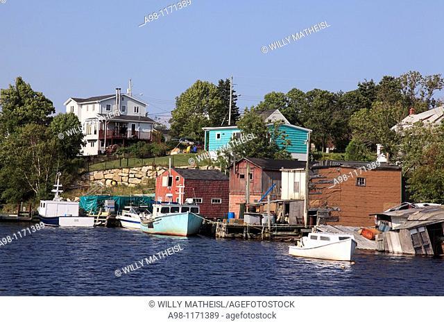 old traditional fishing village Herring Cove, Nova Scotia, Atlantic Canada