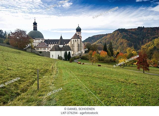 St Trudpert Monastery, Munstertal, near Freiburg im Breisgau, Black Forest, Baden-Wurttemberg, Germany