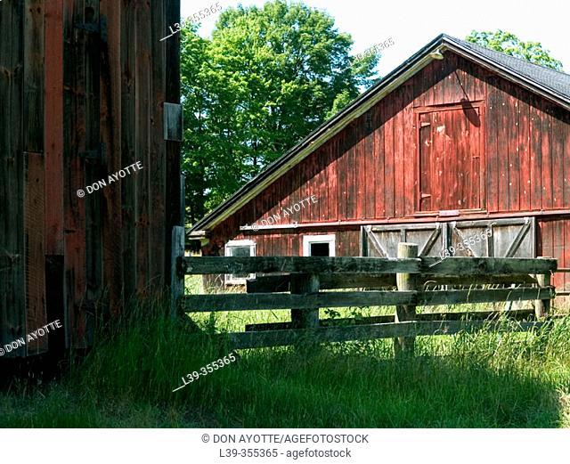Barn in Sunderland. Massachusetts, USA