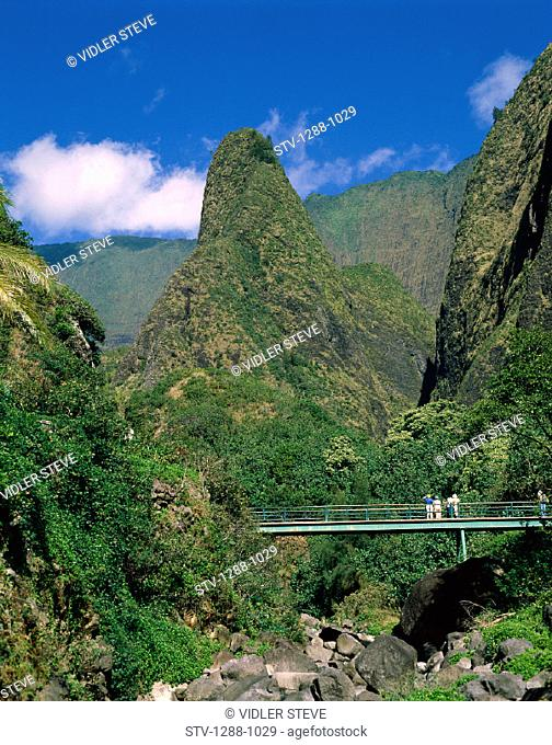 America, Bridge, Group, Hawaii, Holiday, Iao, Landmark, Maui, Monument, Outdoors, Peaks, State, Tourism, Tourists, Travel, Unite