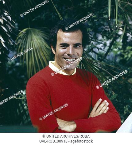 Der spanische Sänger Julia Iglesias, ca. 1974. Spanish singer Julio Iglesias, ca. 1974
