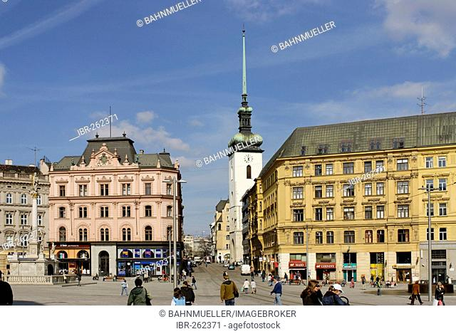 Brno Bruenn Czech republic South Moravia nam Svobody market square