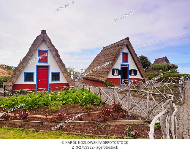 Portugal, Madeira, Traditional Rural House in Santana.