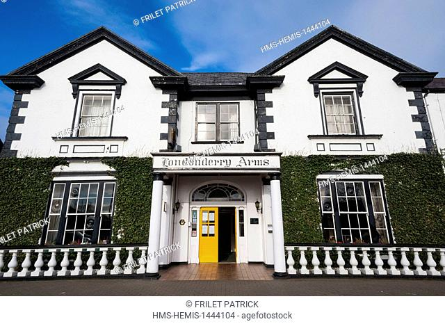 United Kingdom, Northern Ireland, County Antrim, Carnlough, Londonderry Arms Hotel