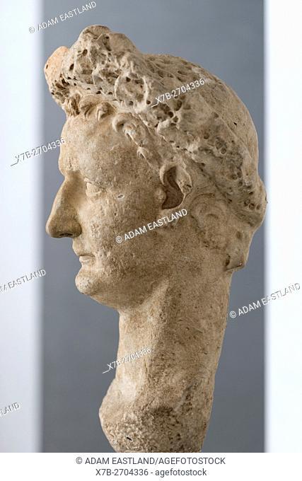 Rome. Italy. Portrait of Roman Emperor Vespasian (9-79 AD). Palazzo Massimo alle Terme. Museo Nazionale Romano. . 9th Emperor of the Roman Empire