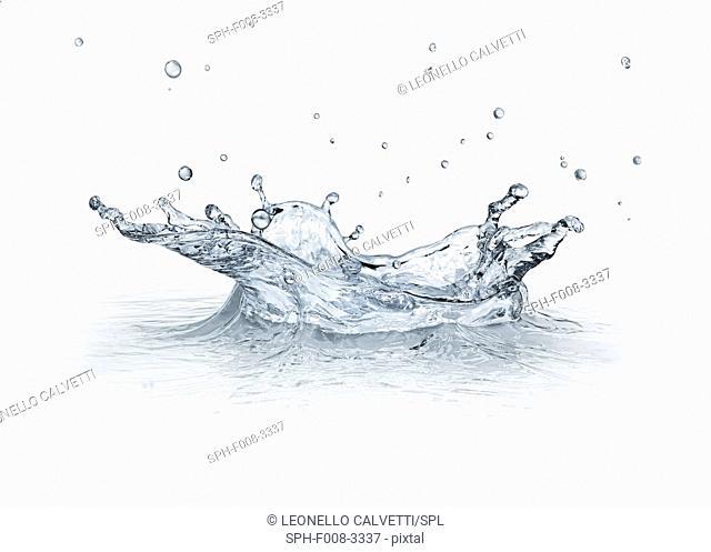 Water drop impact, artwork