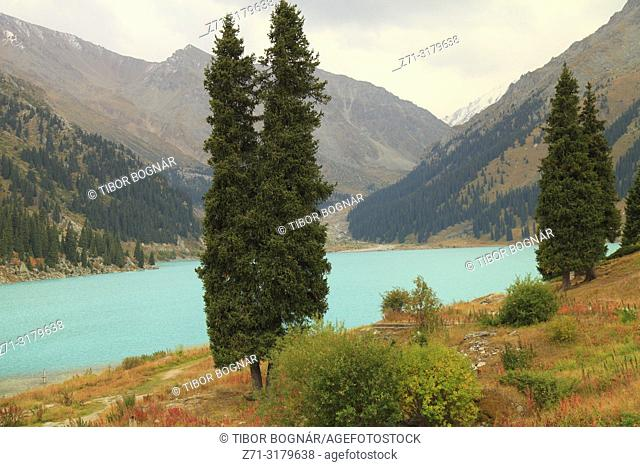Kazakhstan; Ile-Alatau National Park, Big Almaty Lake,