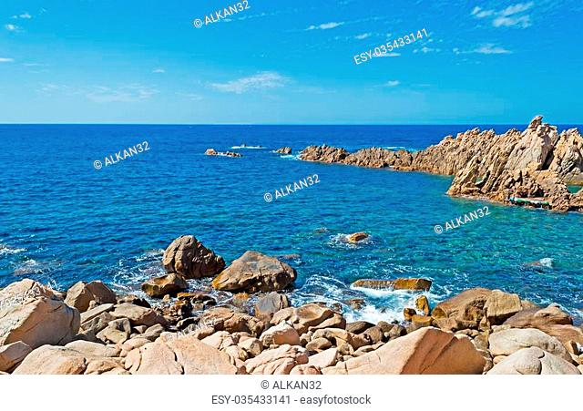 Costa Paradiso rocky shore on a clear day