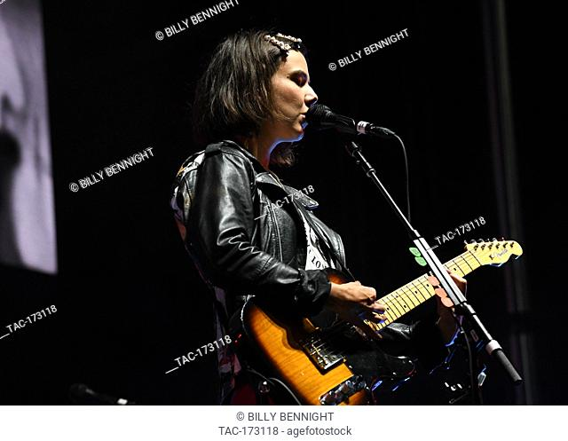 Nanna Bryndís Hilmarsdóttir of the band Of Monsters and Men performs at ALT 98.7 Summer Camp at the Queen Mary in Long Beach on August 3, 2019