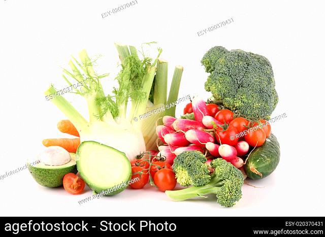 isolated fresh vegetable