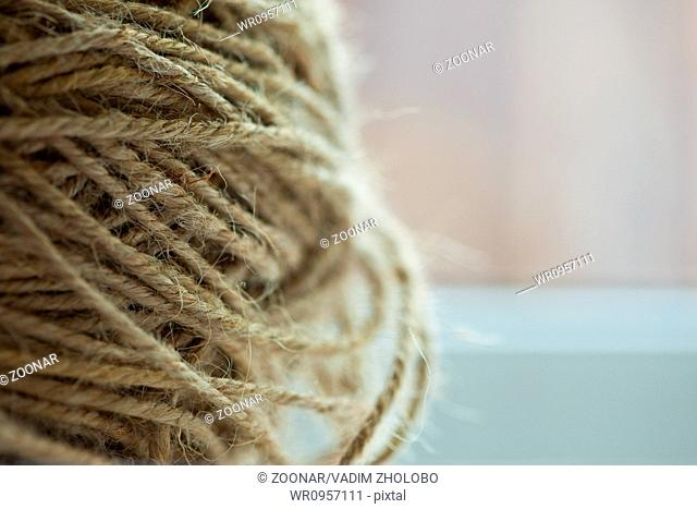 hank of coarse rope, texture