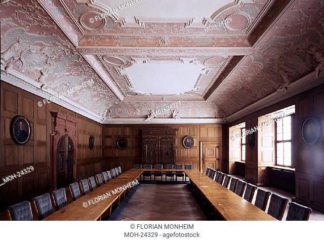 Eberbach, Zisterzienserkloster/ Mönchsrefektorium mirt barocker Ausstattung