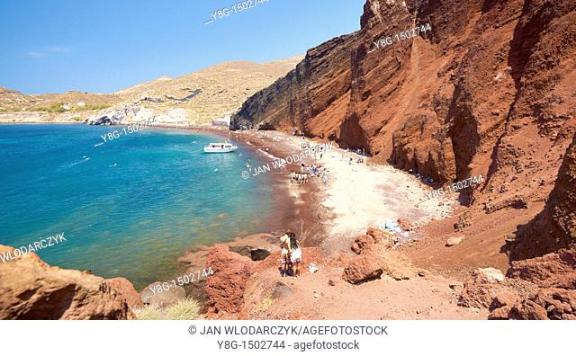 Red Beach, Santorini Island, Cyclades, Greece