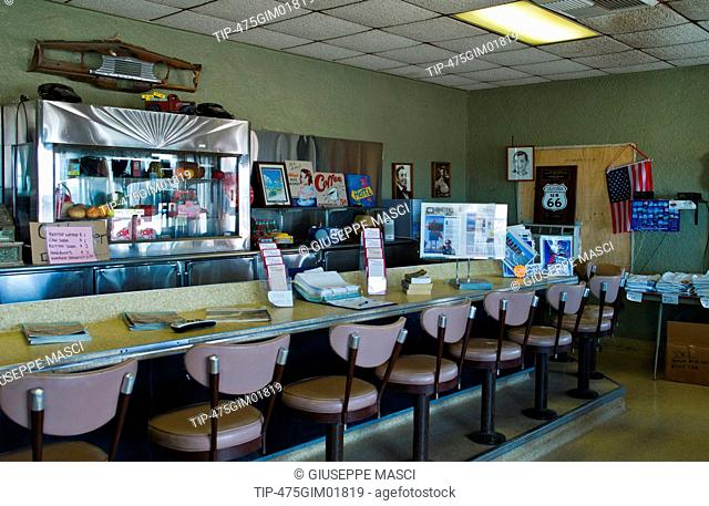 USA, California, Amboy, the Roy's motel and cafe on Route 66