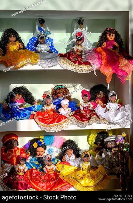 Dolls in shop, Havana Vieja, Cuba